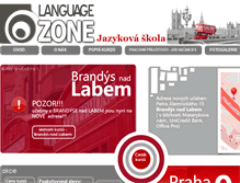 Tablet Preview of languagezone.cz